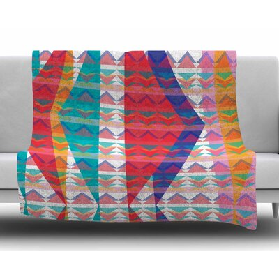 Triangle Illusion by Miranda Mol Fleece Blanket