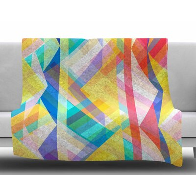 Triangle Rhythm by Miranda Mol Fleece Blanket