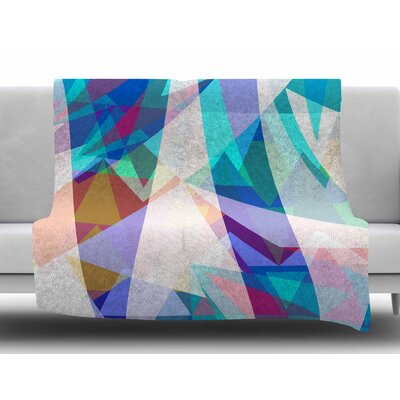 Triangle Party by Miranda Mol Fleece Blanket