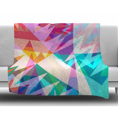 Triangle Feast by Miranda Mol Fleece Blanket