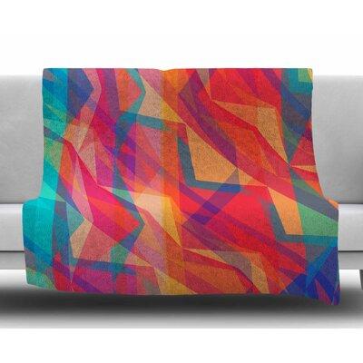 Triangle Opticals by Miranda Mol Fleece Blanket