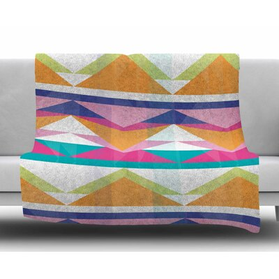 Triangle Waves by Miranda Mol Fleece Blanket