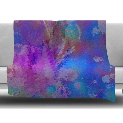Painterly Foliage Series 3 by Malia Shields Fleece Blanket