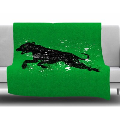 Black Dog by BarmalisiRTB Fleece Blanket