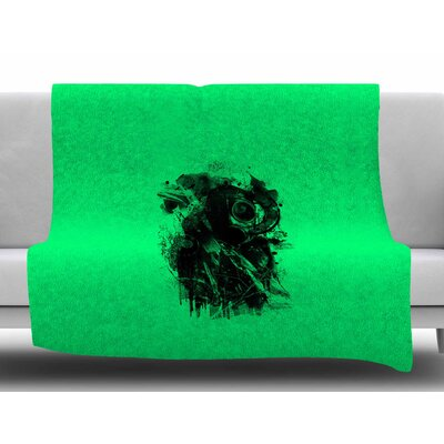 Black Gasmask by BarmalisiRTB Fleece Blanket