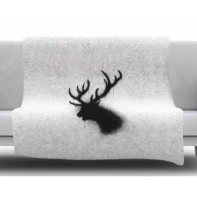 Dark Deer by BarmalisiRTB Fleece Blanket