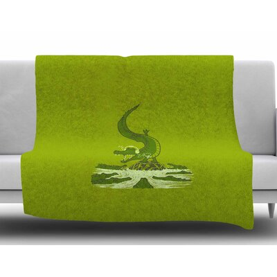 Breakdance Crocodile by BarmalisiRTB Fleece Blanket