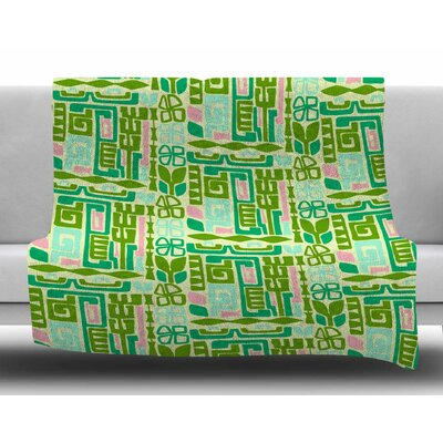 Maze by Amy Reber Fleece Blanket