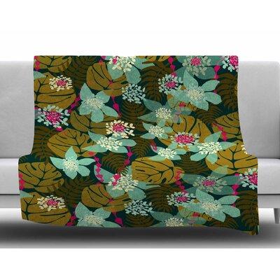 Tropical by Amy Reber Fleece Blanket