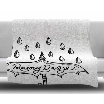 Rainy Daze by Busy Bree Fleece Blanket