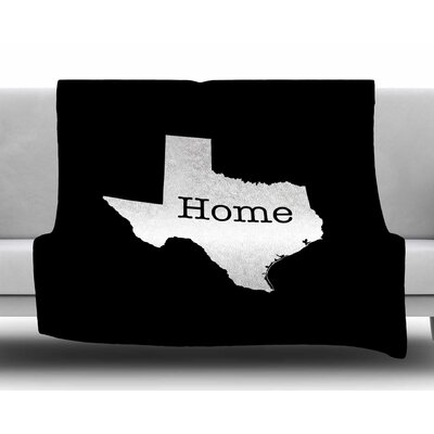 Texas State Outline by Bruce Stanfield Fleece Blanket