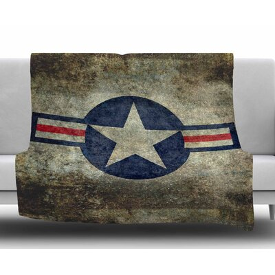 Usaf Vintage Retro Style Round by Bruce Stanfield Fleece Blanket