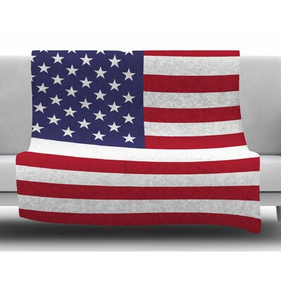 Flag of Usa by Bruce Stanfield Fleece Blanket
