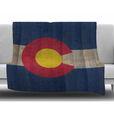 Flag of Colorado by Bruce Stanfield Fleece Blanket