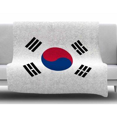 Flag of Korea by Bruce Stanfield Fleece Blanket