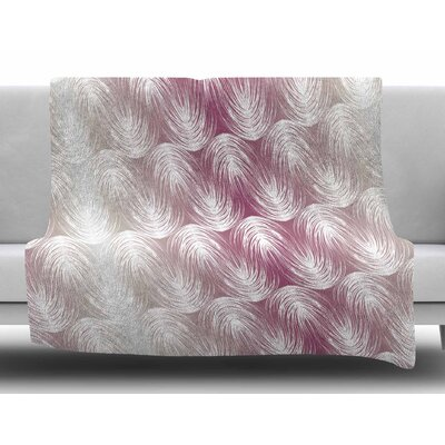 Stripe Palms by Gukuuki Fleece Blanket