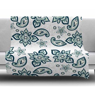 Batik Paisley by Gukuuki Fleece Blanket