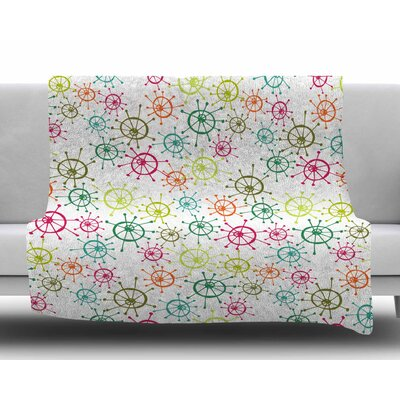 Mod Flower Burst by Holly Helgeson Fleece Blanket