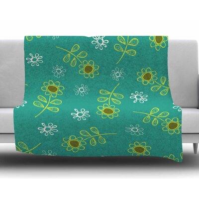 Ditsy Daisy by Holly Helgeson Fleece Blanket