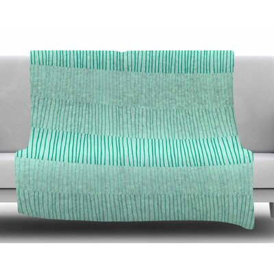 Mod Grass by Holly Helgeson Fleece Blanket