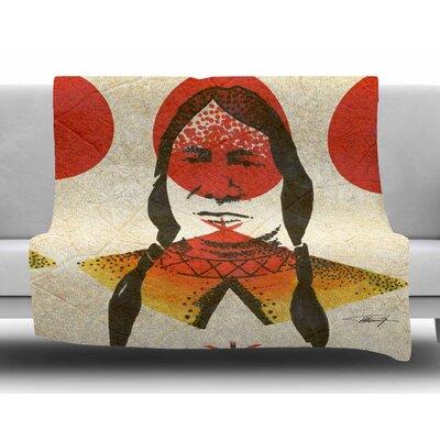 Indian by Ivan Joh Fleece Blanket