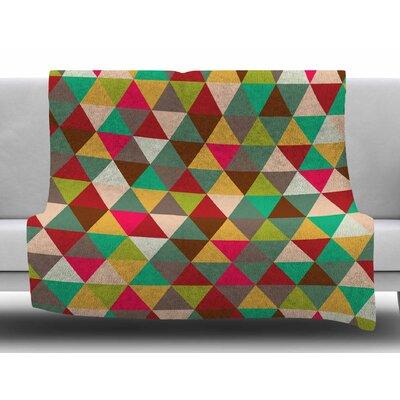 Autumn Triangle Spectrum Fleece Blanket