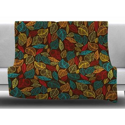 Leaves All Around Fleece Blanket