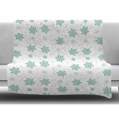 Snow by Louise Fleece Blanket
