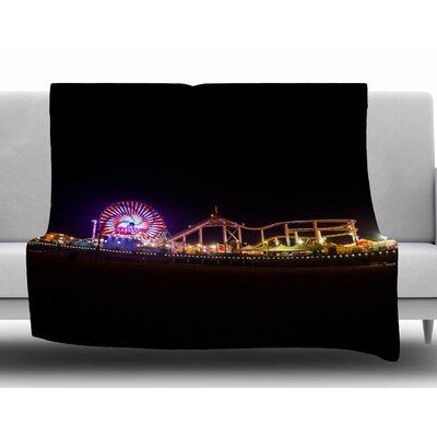 Santa Monica Pier by Juan Paolo Fleece Blanket