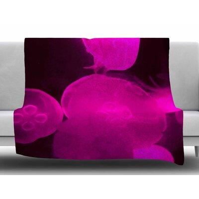 Pink Jellyfish by Juan Paolo Fleece Blanket