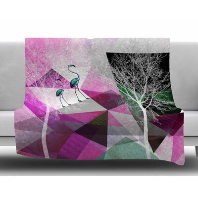 Flamingo P22 by Pia Schneider Fleece Blanket