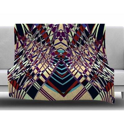 Sweeping Line Pattern I-E by Pia Schneider Fleece Blanket