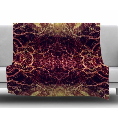 Burning Roots I+Viii by Pia Schneider Fleece Blanket