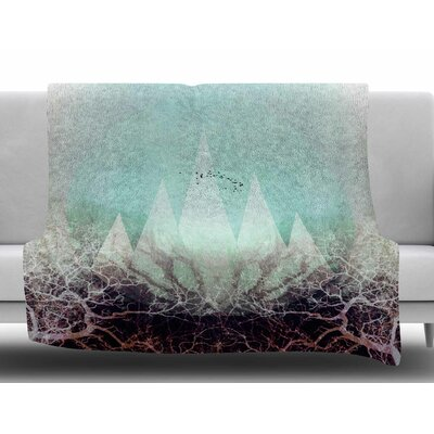 Trees Under Magic Mountains Vi by Pia Schneider Fleece Blanket