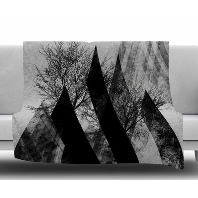 Trees V2 by Pia Schneider Fleece Blanket