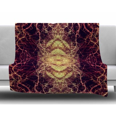 Burning Roots Iv by Pia Schneider Fleece Blanket
