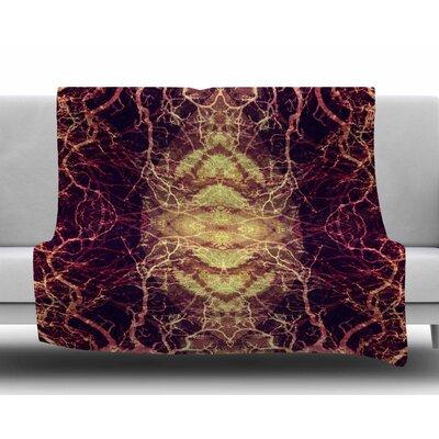 Burning Roots Iv by Pia Schneider Fleece Blanket