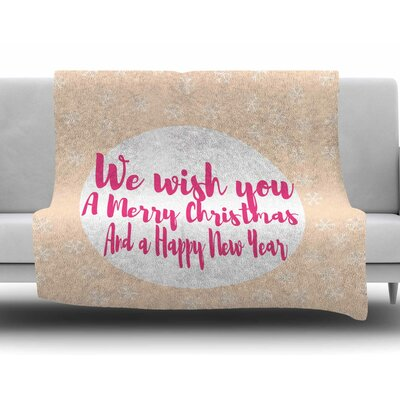 Merry Chistmas & Happy New Year by Suzanne Carter Fleece Blanket