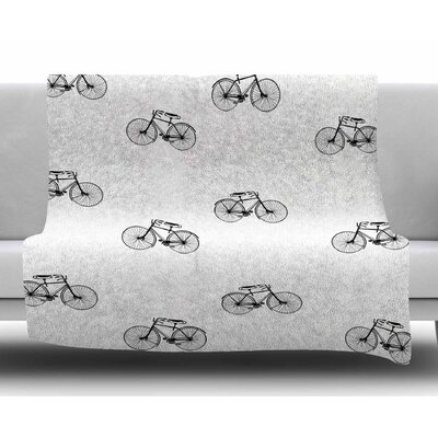 Vintage Wheels by Suzanne Carter Fleece Blanket