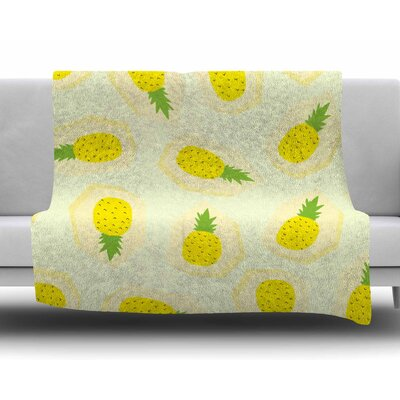 Pineapple Pattern by Strawberringo Fleece Blanket