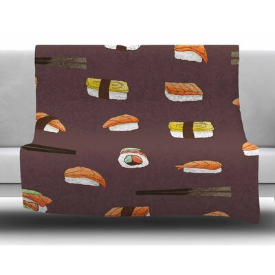 Sushi Pattern by Strawberringo Fleece Blanket