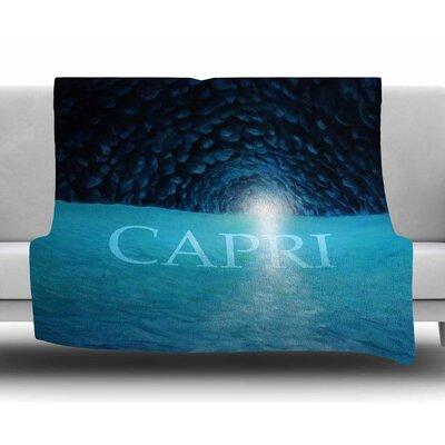 The Grotto of Capri by Theresa Giolzetti Fleece Blanket