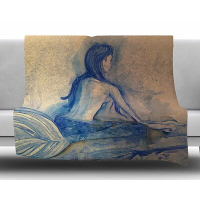 Mer-Maid? Huh... by Theresa Giolzetti Fleece Blanket
