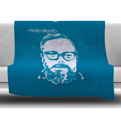 Hello World by Theresa Giolzetti Fleece Blanket
