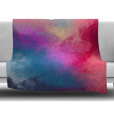 Abstract 01 by Viviana Gonzalez Fleece Blanket