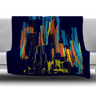 Strippy City by Frederic Levy-Hadida Fleece Blanket