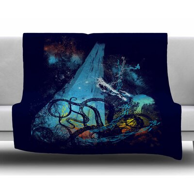 Danger from the Deep by Frederic Levy-Hadida Fleece Blanket