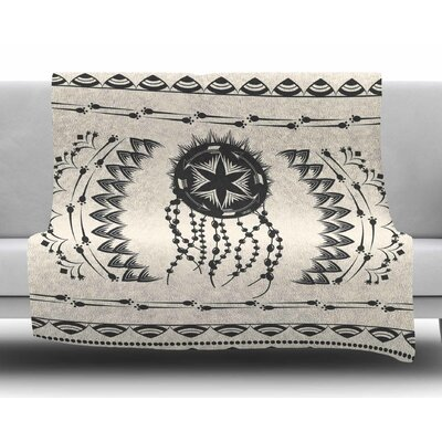 Bohemian Dream Catcher Boho by Famenxt Fleece Blanket
