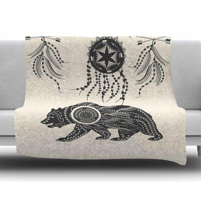 Boho Ornate Bear by Famenxt Fleece Blanket