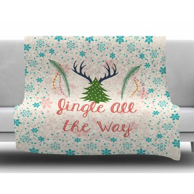 Jingle All the Way by Famenxt Fleece Blanket